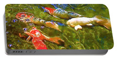 Portable Battery Charger featuring the photograph Koi 1 by Pamela Cooper