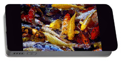 Portable Battery Charger featuring the photograph Koi Pond by Marie Hicks