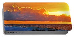 Portable Battery Charger featuring the photograph Kona Golden Sunset by David Lawson