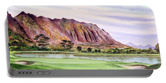 Koolau Golf Course Hawaii 16th Hole Portable Battery Charger by Bill Holkham