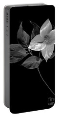 Kousa Dogwood In Black And White Portable Battery Charger