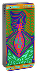 Kuna Indian Mother Earth Portable Battery Charger by Vagabond Folk Art - Virginia Vivier