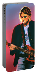 Kurt Cobain In Nirvana Painting Portable Battery Charger by Paul Meijering