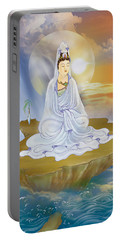 Kwan Yin - Goddess Of Compassion Portable Battery Charger by Lanjee Chee