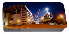 Kyle Field At Night Portable Battery Charger by Linda Unger