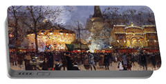 La Fete Place De La Republique Paris Portable Battery Charger