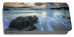 Portable Battery Charger featuring the photograph La Fragata Beach Galicia Spain by Pablo Avanzini