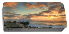 La Jolla Cove At Sunset Portable Battery Charger