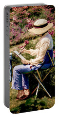 Portable Battery Charger featuring the photograph La Peintre by Chris Lord
