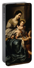 La Serrana Or, Madonna And Child Portable Battery Charger