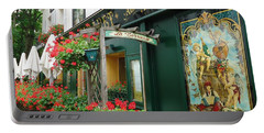 La Terrasse In Montmartre Portable Battery Charger by Barbie Corbett-Newmin
