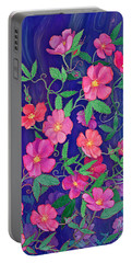 Portable Battery Charger featuring the mixed media La Vie En Rose by Teresa Ascone