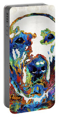 Labrador Retriever Art - Play With Me - By Sharon Cummings Portable Battery Charger