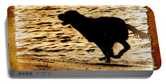 Labrador Silhouette Portable Battery Charger by Eleanor Abramson