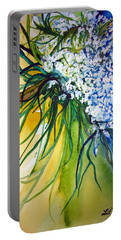 Portable Battery Charger featuring the painting Lace by Lil Taylor