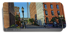 Laclede's Landing Just North Of The Arch Portable Battery Charger by Greg Kluempers