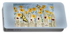 Ladies In The Garden Portable Battery Charger by Angela Davies