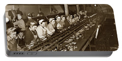 Ladies Packing Sardines In One Pound Oval Cans In One Of The Over 20 Cannery's Circa 1948 Portable Battery Charger