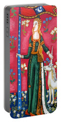 Lady And The Unicorn La Pointe Portable Battery Charger by Genevieve Esson