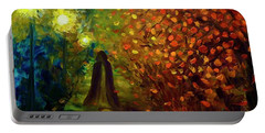 Lady Autumn Portable Battery Charger