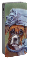 Lady Boxer With Blue Hat Portable Battery Charger