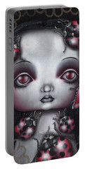 Lady Bug Girl Portable Battery Charger