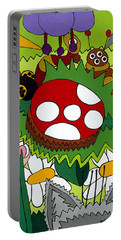 Lady Bug Portable Battery Charger by Rojax Art
