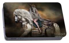 Portable Battery Charger featuring the digital art Lady Godiva by Shanina Conway