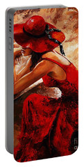 Lady In Red 21 Portable Battery Charger