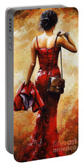 Lady In Red #25 Portable Battery Charger
