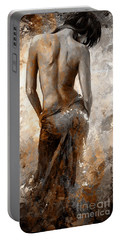 Lady In Red #27 Digital Colored Rust Portable Battery Charger