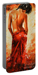 Lady In Red 27re Large  Portable Battery Charger