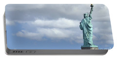 Lady Liberty   1 Portable Battery Charger by Allen Beatty