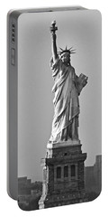 Lady Liberty Black And White Portable Battery Charger