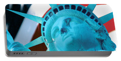 Portable Battery Charger featuring the photograph Lady Liberty  by Jerry Fornarotto