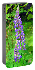 Lady Lupine Portable Battery Charger by Elizabeth Dow