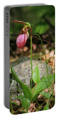 Lady Slippers At Moore State Park 3 Portable Battery Charger
