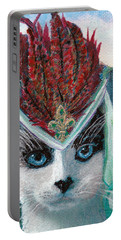 Lady Snowshoe Portable Battery Charger