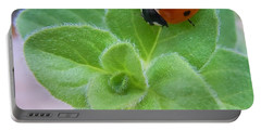 Portable Battery Charger featuring the photograph Ladybug And Oregano by Robert ONeil