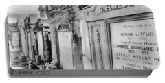 Lafayette Cemetery Black And White Portable Battery Charger