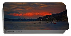 Lago Maggiore Portable Battery Charger by Hanny Heim