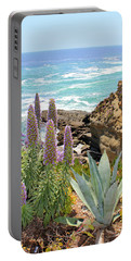 Laguna Coast With Flowers Portable Battery Charger