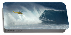 Laird Hamilton Going Left At Jaws Portable Battery Charger