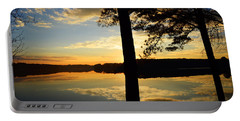 Lake At Sunrise Portable Battery Charger