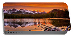 Lake Bierstadt In The Morn Portable Battery Charger by Steven Reed