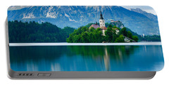 Lake Bled Island Church Portable Battery Charger