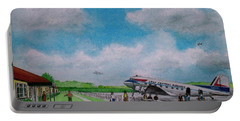 Lake Central Deplaning At Portsmouth Ohio Portable Battery Charger by Frank Hunter
