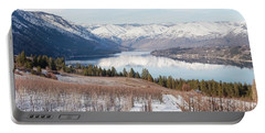 Lake Chelan In Winter Portable Battery Charger