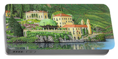 Lake Como Morning Portable Battery Charger by Jane Girardot