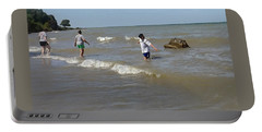 Lake Erie @ Conneaut Portable Battery Charger by Joyce  Wasser